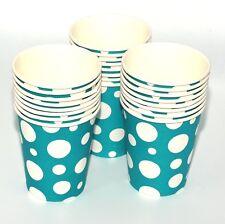 24 vasos de papel (256 ml) - LUNARES COLORES cumpleaños Party Vajilla Catering