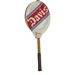 Vintage 1L TAD Davis Imperial Tennis Wood Racquet with Victor Cover