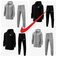 Nike Boys Kids Fleece Tracksuit Jogging Bottoms Hoodie Core Joggers Jacket Top