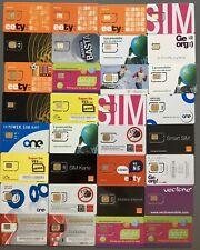 """100 verschiedene """"Sim-karten"""" Original nicht geklebt, für Sammlerzwecke,"""