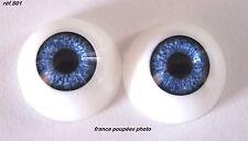 yeux poupée 22mm demi-rond S01-Bébé réaliste-Reborn Doll eyes supplies