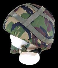 British MK6 Ballistic Nylon Kevlar Helmet-Large (58-60 CM) W/ Woodland DPM Cover