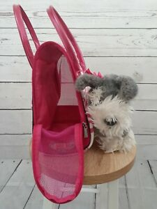 Pink: Pucci Girls Carrier Bag With Gray Pucci Pup Pre-Owned Free Shipping
