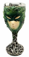 NEW Gothic Gifts Green Celtic Lady of the Woods Decorative Wine Goblet Chalice