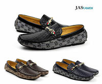 Mens Smart Casual Loafers Slip On Driving Shoes Designer Moccasin Walking Flats