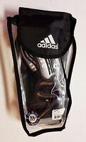 adidas Club Pro Soccer Shin Guards XXSMALL Black & Silver SIZE 5 *FAST SHIPPING*