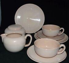 Wächtersbach Decor 6022 Design Martha Katzer Teeservice für 2 Pers. Rillen rosa