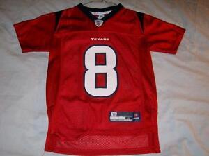 Matt Schaub 8 Houston Texans NFL Reebok Red Screen Print Boy's Small size 8 used