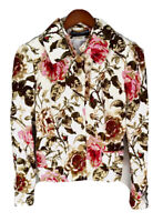 Dolce & Gabbana Women Jacket Floral Pattern Button Slim Blazer IT 44