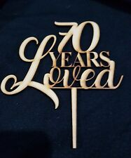 Laser Cut Wooden Cake Topper - Years Loved