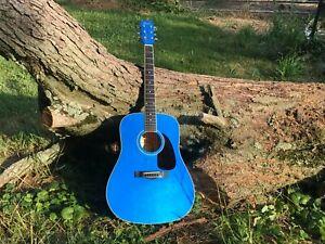 Fender Squier Acoustic guitar CANDY APPLE BLUE SPARKLE EXCLN COND PLAYER !