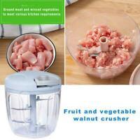 Hand Pull Type Meat Chopper Manual Food Grinder Fruits Shredder Vegetable I7Q3