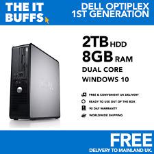 DELL-Dual Core 8GB 2TB HDD Windows 10-WIFI-Desktop PC Computer
