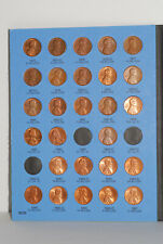 Whitman Lincoln Cent 1975-1999 Coin Folder, Penny Album, with 77 coins included