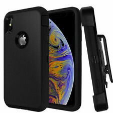 Apple iPhone XR Defender Impact Shockproof Case Cover With Strong Belt Clip