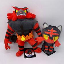 """2X Incineroar & Litten Plush Soft Toy Doll Stuffed Animal Teddy 13.5"""""""