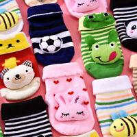 Baby Toddler Non-Slip Boot Socks Kids Cartoon Warm Shoes Anti-slip Slipper CA