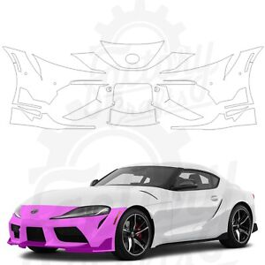 Paint Protection Film Clear PPF for Toyota GR Supra 2020 Front Bumper