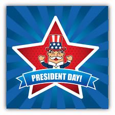 "President Day United States Man Car Bumper Sticker Decal 5"" x 5"""