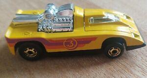 1980 Hot Wheels Cannonade Yellow Race Car Die Cast Vehicle