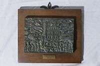 Piazza delle Erbe Verona Bronze Panel Plaque 38/60 Artist Signed 20cm x 17cm