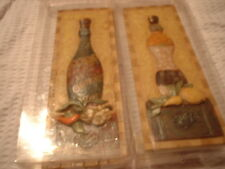 2 NEW BOXED BOTTLE WALL PLAQUES