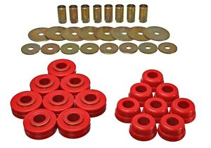 Energy Suspension Red Body Mount Set For 1972-1997 International Scout II