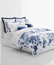 Ralph Lauren Home  Flora KING Comforter & Shams Set Blue Floral Cotton $385