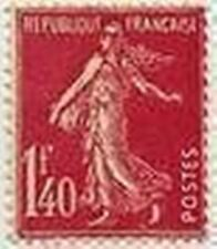 "FRANCE STAMP TIMBRE N° 196 "" SEMEUSE FOND PLEIN 1 F 40 ROSE "" NEUF xx  LUXE"