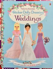 Usborne Sticker Dolly Dressing: Weddings NEW Paperback 300+ Reusable Stickers
