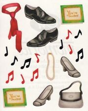 NEW Creative Memories BLOCK STICKER - Dance Sticker - Music, Shoes, Invitations