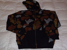 Authentic Sean John Camo Print Zip Hoody Track Jacket Black Size XL