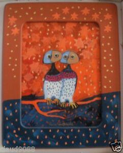 ROSINA WACHTMEISTER BY GOEBEL ROMANZE OWLS PICTURE - 34.5 cm HIGH  LTD/ED 507476