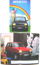 Renault 5 TS GTL TL 1981-82 Original Dutch Brochure