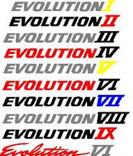 Mitisubishi Evo rear door Decals Stickers 4 5 6 7 8 9
