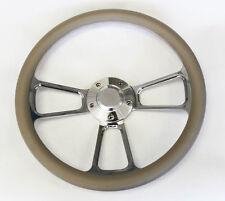 "Bronco F100 F150 F250 F350 Steering Wheel 14"" Grey and Billet Shallow Dish"