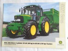 John Deere  80 to 120HP 6020 Series Tractors brochure c2000's English text