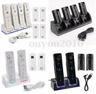 New 4x 2800mAh Battery + Charger Charging Dock Station For Wii Remote Controller