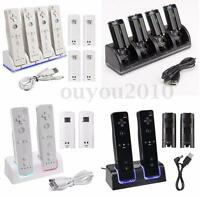 2/4x 2800mAh Battery + Charger Charging Dock Station For Wii Remote Controller !
