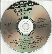 GARY ALLAN Alright Guy RARE ADVNCE PROMO DJ CD w/ TODD SNIDER Remake Cover 2001