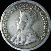 1919 VG+ Canada Silver 5 Cents - KM# 22