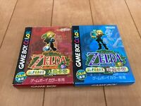 Legend of Zelda Oracle of Seasons and Ages with BOX and Manual japan Gameboy