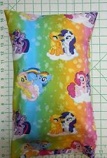 Rainbow MY LITTLE PONY ponies Small Pillow Case with Travel / Toddler Pillow