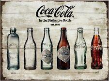 Coca Cola Timeline Nostalgie Kühlschrank Magnet 6x8 cm Tin Sign EMAG400