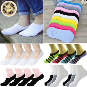For Womens Ankle No Show Boat Liner Invisible Solid Mix Cotton Socks 3-12 Pairs
