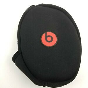 Genuine Beats by Dr Dre Solo 2 Headphone Soft carrying Neoprene Case Black/Red