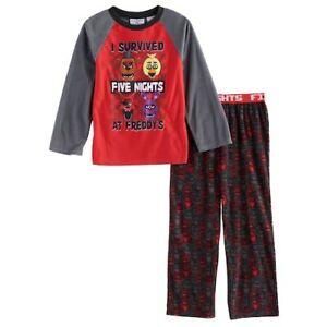 FNF Boys Five Nights At Freddy's 2-Piece Pajama Set New