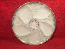 Antique German Porcelain White & Gold 6 Well Oyster Plate, op374 GIFT QUALITY!!