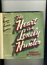 THE HEART IS A LONELY HUNTER-CARSON MCCULLERS-c1940-1ST ED  RARE ORIGINAL DJ VG+