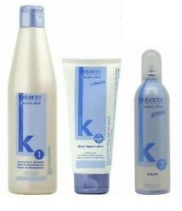Salerm Keratin Shot Shampoo & Deep Impact Plus Conditioner Mask & Serum (3Combo)